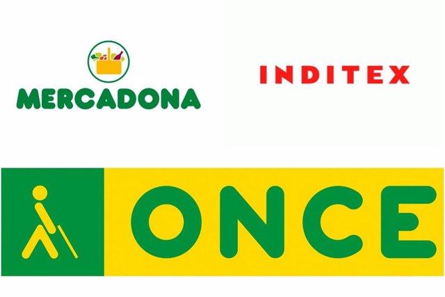 Montaje de Inditex, Mercadona y ONCE