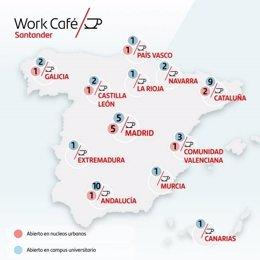 Aperturas de Work Café de Banco Santander