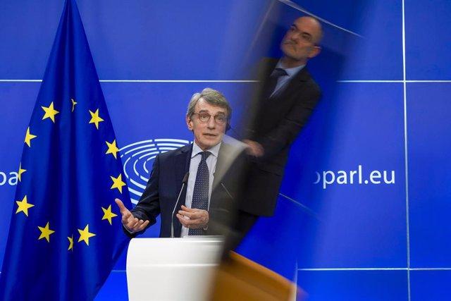 Archivo - El presidente del Parlamento Europeo, David Sassoli.