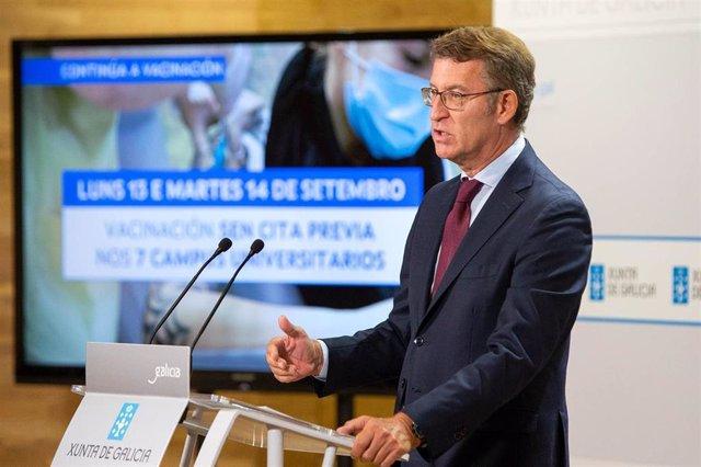 El titular del Gobierno gallego, Alberto Núñez Feijóo, comparece para dar cuenta de las medidas acordadas por el comité clínico.