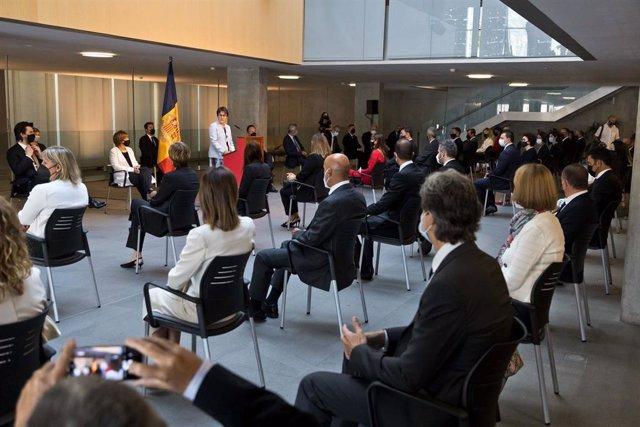 La síndica general ofereix el seu discurs institucional amb motiu de la festa nacional d'Andorra