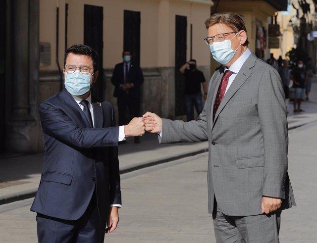 El president Ximo Puig rep Pere Aragonès