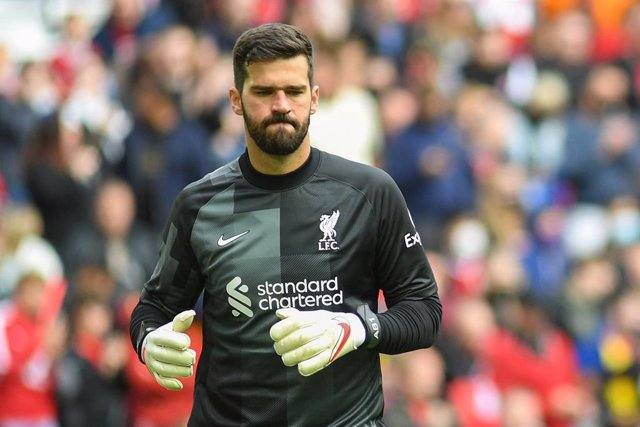 Liverpool's goalkeeper Alisson Becker during the Pre-Season Friendly football match between Liverpool and Athletic Bilbao on August 8, 2021 at Anfield in Liverpool, England - Photo Philip Bryan / ProSportsImages / DPPI
