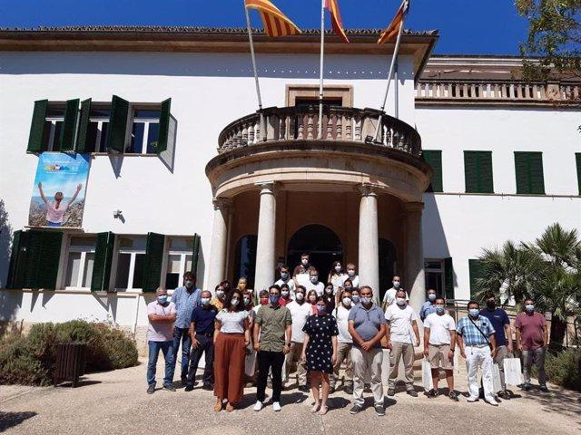 El Departamento de Sostenibilidad y Medio Ambiente del Consell de Mallorca ha organizado un acto de despedida para 22 trabajadores del programa SOIB Reactiva 2020.