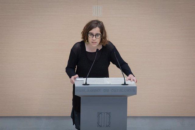 Archivo - Arxivo - La portaveu de la CUP, Eulàlia Reguant, intervé en la segona sessió del debat d'investidura a la presidència de la Generalitat de Catalunya, en el Parlament, Barcelona, Catalunya, (Espanya), a 30 de març de 2021.