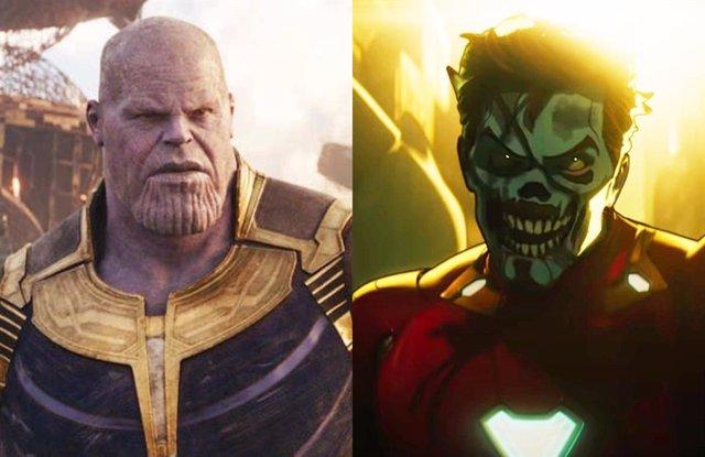 Thanos y la versión zombi de Tony Stark