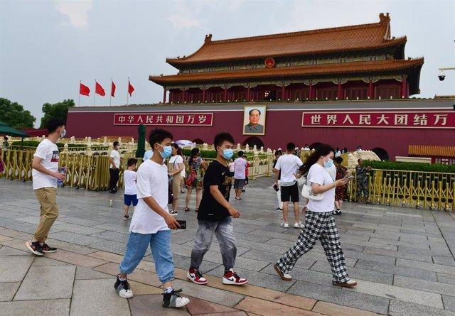 Archivo - Imagen  de archivo de la plaza Tiananmen.