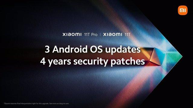 Ampliación de las actualizaciones de Xiaomi para la familia Mi 11T.