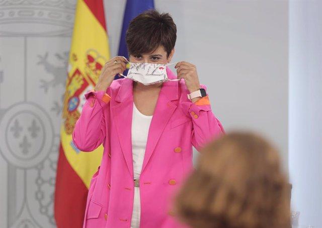 Arxiu - La ministra portaveu, Isabel Rodríguez