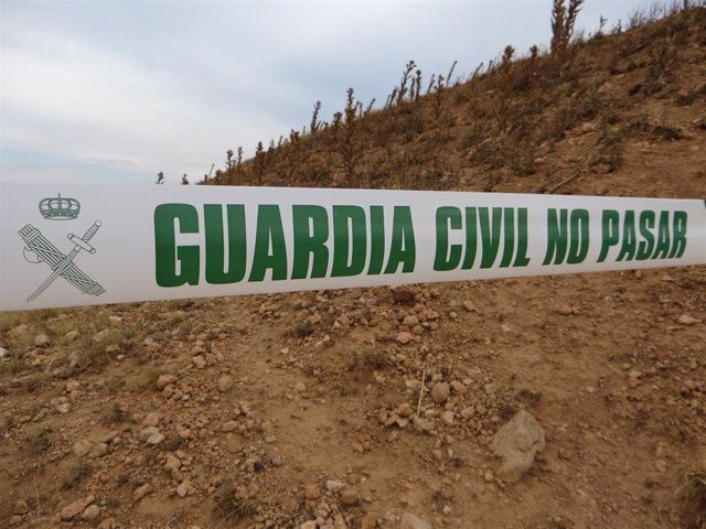 Archivo - Baliza de la Guardia Civil.