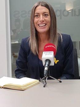 La portaveu de Junts al Congrés, Miriam Nogueras, en una entrevista amb Europa Press