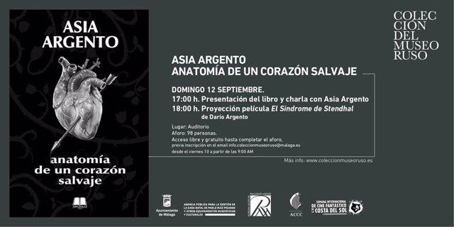 Presentación del libro 'Anatomía de un corazón salvaje' de Asia Argento