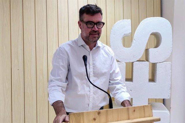 Archivo - El coordinador de MÉS per Mallorca, Antoni Noguera, en una rueda de prensa.