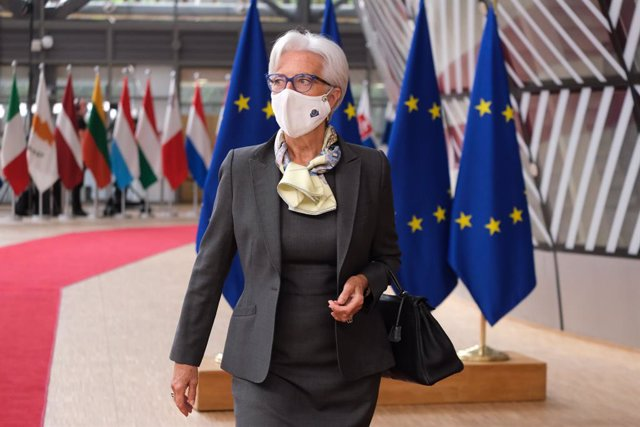 Archivo - HANDOUT - 25 June 2021, Belgium, Brussels: President of the European Central Bank Christine Lagarde arrives to attend the second day of the European Union summit at the European Council. Photo: Alexandros Michailidis/European Council/dpa - ATTEN