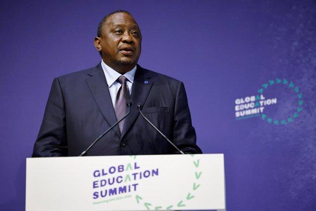 Archivo - El presidente de Kenia, Uhuru Kenyatta