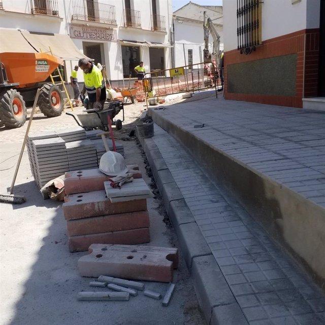 Obras de mejora de infraestructuras hidráulicas en un municipio del Aljarafe