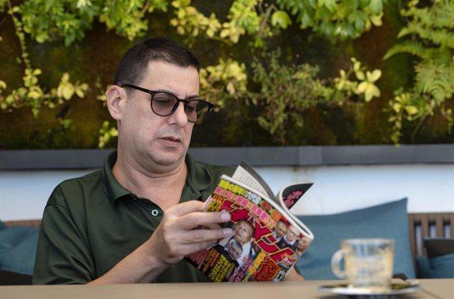 El periodista Jake Adelstein durante la presentación de su libro 'Tokyo Vice'