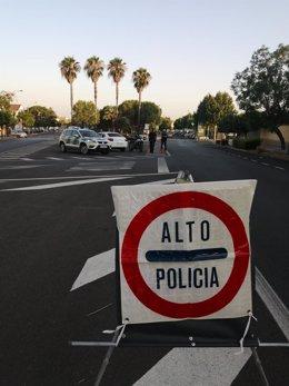 Control policial en Bollullos