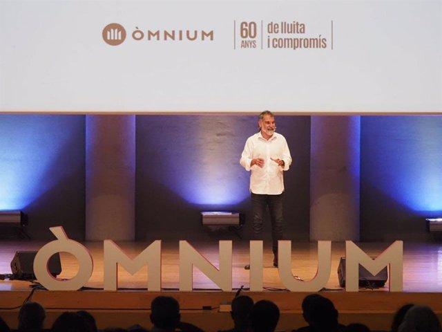 El presidente de Òmnium Cultural, Jordi Cuixart, en un acto en Tarragona