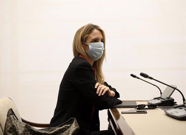 Archivo - La exportavoz del Partido Popular en el Congreso, Cayetana Álvarez de Toledo, durante una Comisión Mixta para la Unión Europea, a 27 de abril de 2021, en la Sala Prim del Congreso de los Diputados, Madrid, (España).