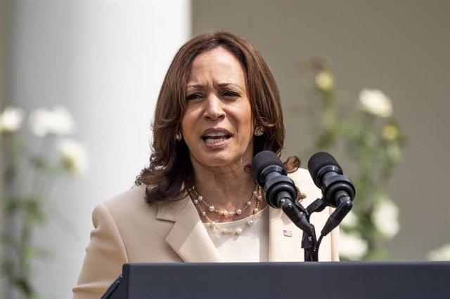 Archivo - La vicepresidenta de Estados Unidos, Kamala Harris