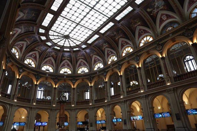Archivo - Una de las instalaciones del Palacio de la Bolsa de Madrid