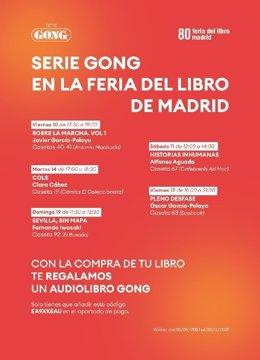 Calendario de firmas Serie Gong en la Feria del Libro de Madrid