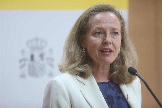 La vicepresidenta para Asuntos Económicos y Transformación Digital del Gobierno de España, Nadia Calviño