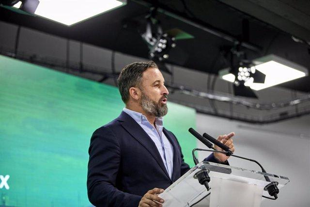 Arxiu - El president de Vox, Santiago Abascal