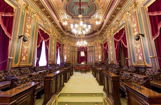 Imagen del Salón de Plenos del Ayuntamiento de Bilbao.