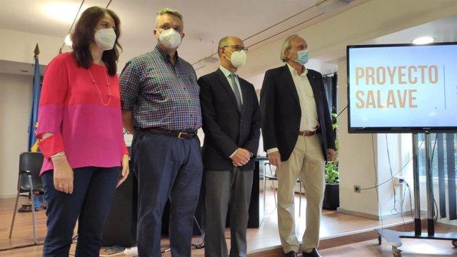 Almudena Ordóñez, Rodrigo Álvarez, Juan José Fernández y José manuel Domínguez