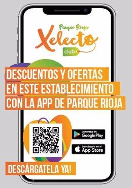 App Club Xelecto en los C.C. Parque Rioja y Sant Boi.