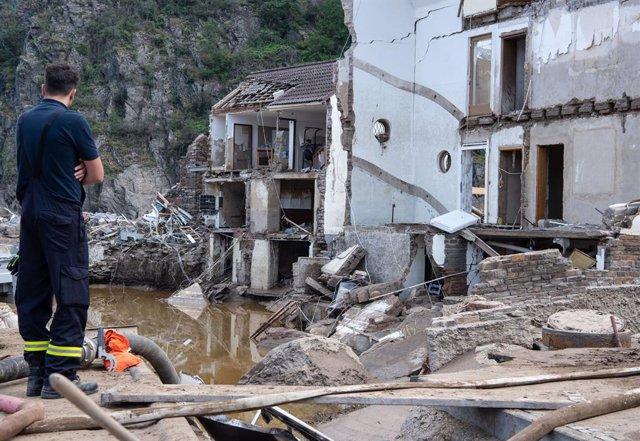 Archivo - Daños causados por las inundaciones en el noroeste de Alemania