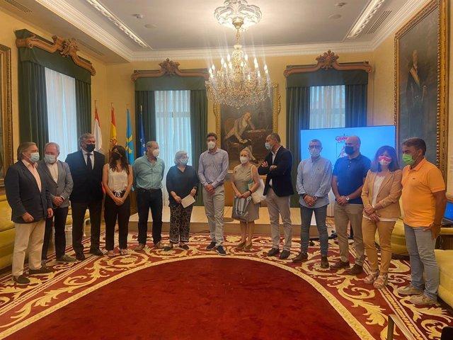 Recepción en el Ayuntamiento de Gijón al tenista gijonés olímpico Pablo Carreño