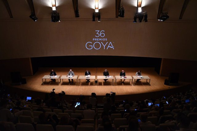 Rueda de prensa de los Goya 2022 en el Palau de Les Arts