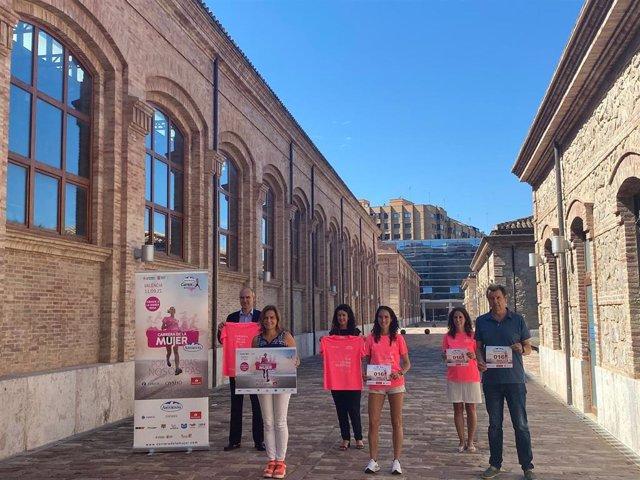 Presentación de la Carrera de la Mujer que vuelve a València este sábado con 4.000 corredoras