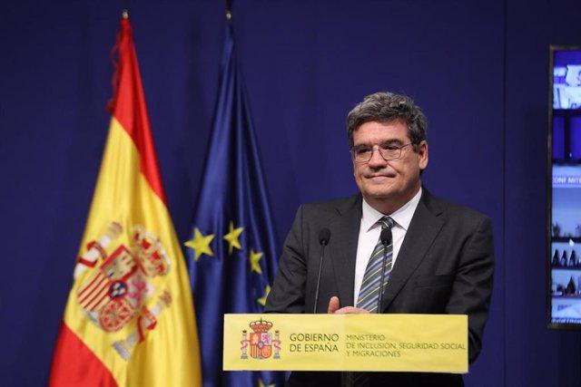 Archivo - El ministro de Inclusión, Seguridad Social y Migraciones, José Luis Escrivá