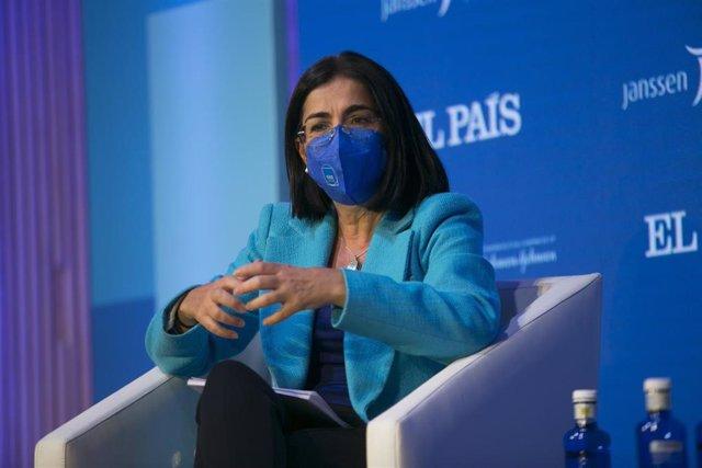 Carolina Darias, ministra de Sanidad del Gobierno de España.