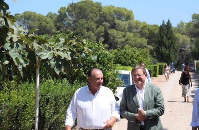 Jose Vicente Morata y Ximo Puig