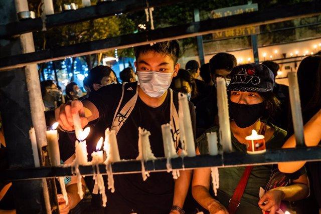 Archivo - Arxiu - Vigília per la massacre de Tiananmen a Hong Kong