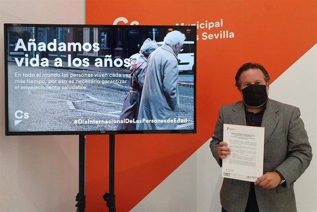 El concejal de Ciudadanos (Cs) en el Ayuntamiento de Sevilla, Lorenzo López Aparicio