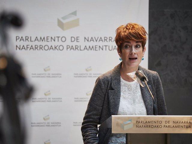 Archivo - Arxiu - La portaveu parlamentària d'EH Bildu a Navarra, Bakartxo Ruiz