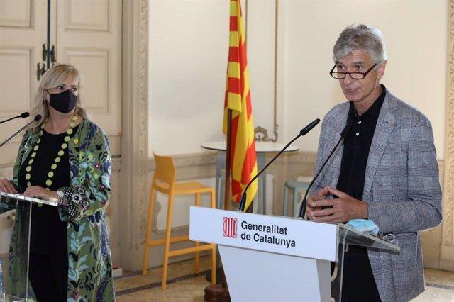 La consellera Violant Cervera i el conseller Josep Maria Argimon