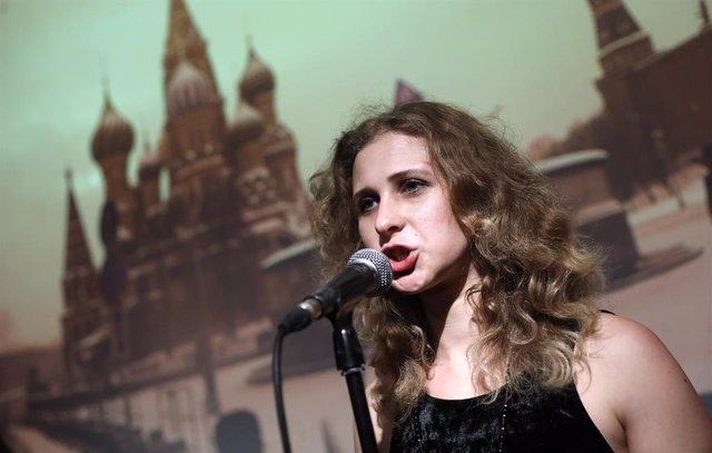 Archivo - María Aliójina, una de las integrantes de Pussy Riot