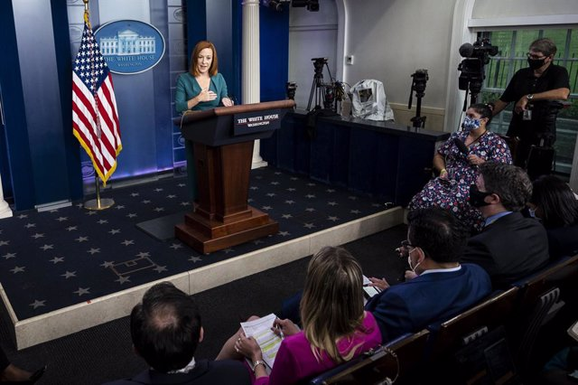 01 September 2021, US, Washington: White House Press Secretary Jen Psaki speaks at a press briefing in the White House Press Briefing Room. Photo: Michael Brochstein/ZUMA Press Wire/dpa