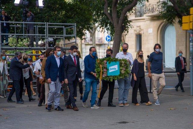 Ofrena de Junts davant el moment de Rafael Casanova a Barcelona per la Diada, encapçalada per Jordi Sànchez