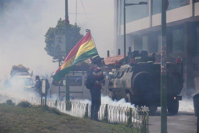 Archivo - Protestas en Sacaba y Senkata, al sur de La Paz, tras la salida del poder del presidente Evo Morales