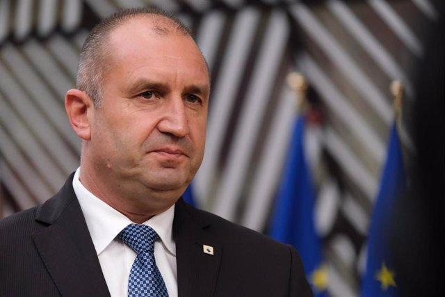 Archivo - Rumen Radev, presidente búlgaro.