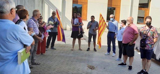 Els comuns de Girona celebren la Diada amb un homenatge a Segó Allèn
