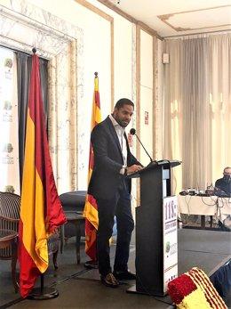 El líder de Vox a Catalunya, Ignacio Garriga, durant la Diada
